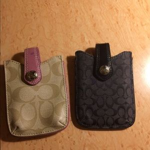 Coach small card holders (2)